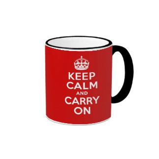 Authentic Keep Calm And Carry On Original Red Mug