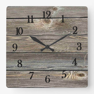 Authentic looking wood wallclocks
