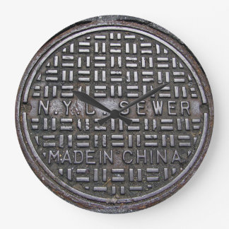 Authentic New York City NYC Sewer Cover Large Clock