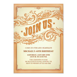 Authentic Old Western Party Invitation