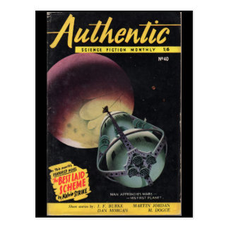 Authentic Science Fiction Monthly _December 1953_P Postcard