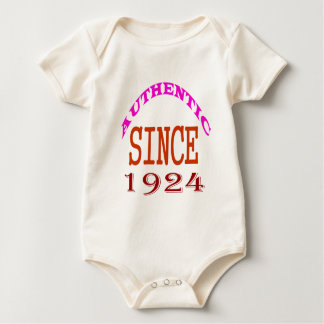 Authentic Since 1924 Birthday Designs Baby Bodysuit