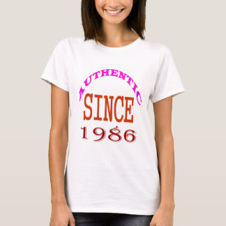 Authentic Since 1986 Birthday Designs T-Shirt