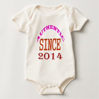 Authentic Since 2014 Birthday Designs Baby Bodysuit