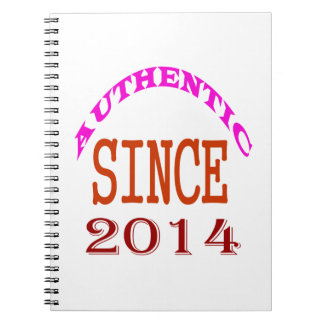 Authentic Since 2014 Birthday Designs Notebooks