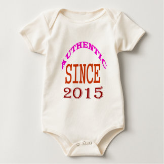 Authentic Since 2015 Birthday Designs Baby Bodysuit