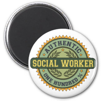 Authentic Social Worker 6 Cm Round Magnet