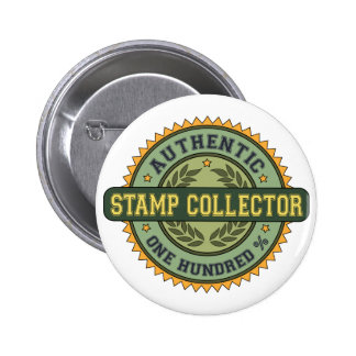 Authentic Stamp Collector Button