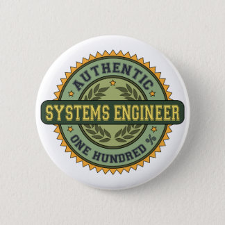 Authentic Systems Engineer 6 Cm Round Badge