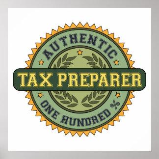 Authentic Tax Preparer Poster