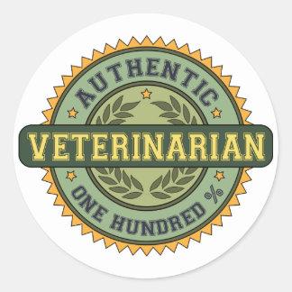 Authentic Veterinarian Classic Round Sticker