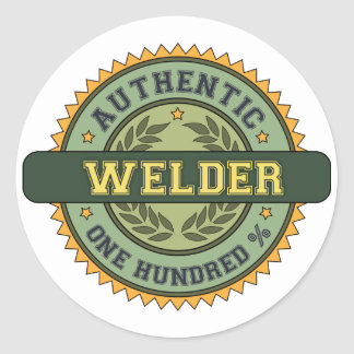 Authentic Welder Round Sticker