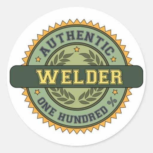 Authentic Welder Round Stickers