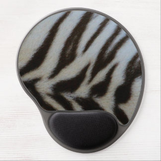 Authentic White Tiger Print Gel Mouse Pad