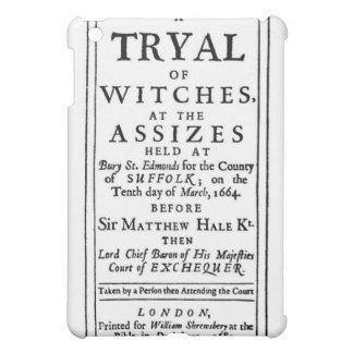 Authentic Witch Trials Poster iPad Mini Case