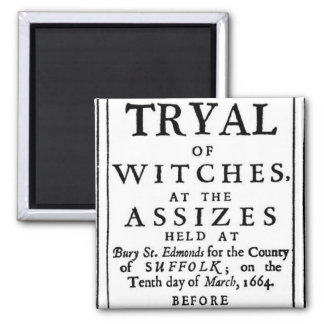 Authentic Witch Trials Poster Square Magnet