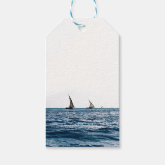 Authentic ZANZIBAR sailboats Gift Tags