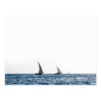 Authentic ZANZIBAR sailboats Postcard