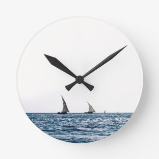 Authentic ZANZIBAR sailboats Round Clock