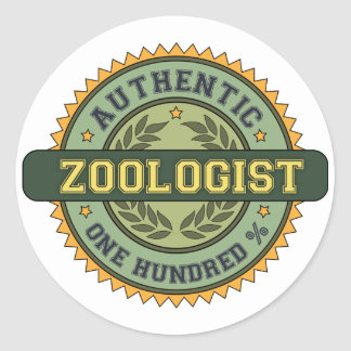 Authentic Zoologist Classic Round Sticker