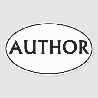 Author Oval Bumper Sticker