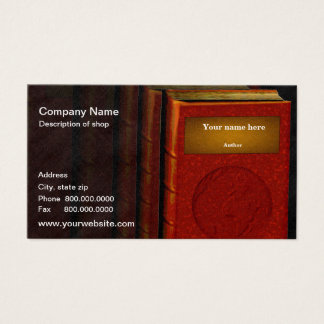 Author/Publisher Business Card
