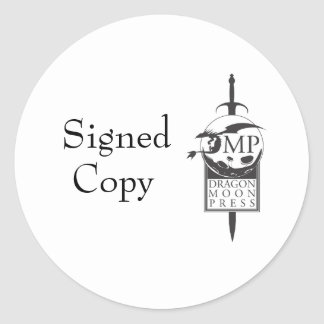 """Author """"signed copy"""" stickers"""