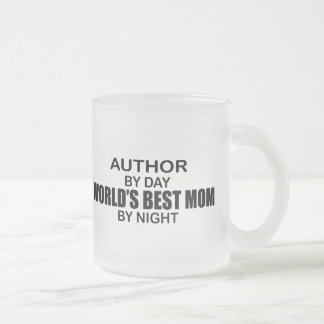 Author - World's Best Mom Frosted Glass Coffee Mug