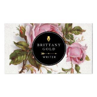 Author, Writer Business Card - Rose Feminine