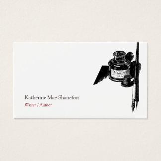Author Writer Calligrapher Business Card