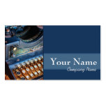 Author, Writer, or Editor Antique Typewritter Business Cards
