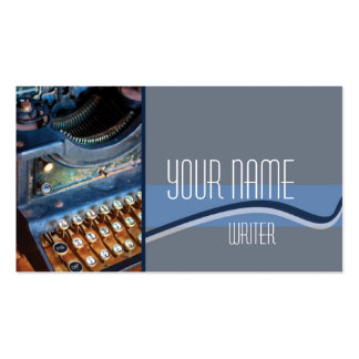 Author, Writer, or Editor Antique Typewritter Business Card Template