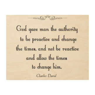 Authority Wood Print