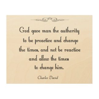 Authority Wood Wall Decor