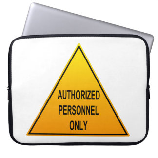 Authorized Personnel Only American Laptop Sleeve
