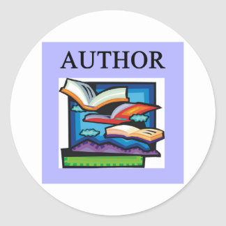 AUTHORS and writers Round Sticker