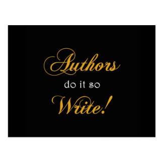 Authors Do It So Write! Postcard