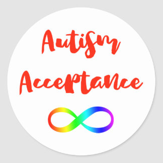 Autism Acceptance Infinity Symbol Classic Round Sticker