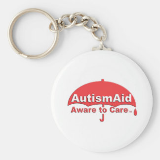 Autism Aid aware To care Basic Round Button Key Ring
