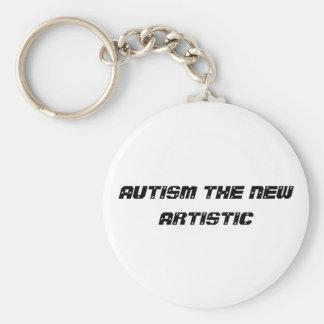 autism artistic basic round button key ring