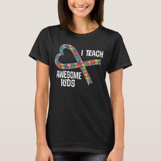 Autism Aspergers Teacher Puzzle Ribbon Shirt