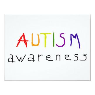 Autism Awareness 11 Cm X 14 Cm Invitation Card
