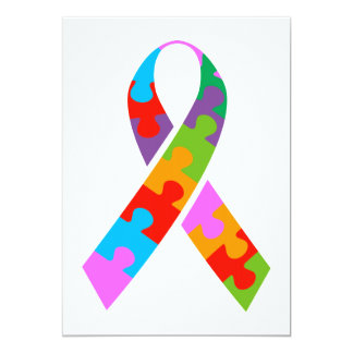 Autism Awareness 13 Cm X 18 Cm Invitation Card