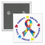 Autism Awareness 15 Cm Square Badge