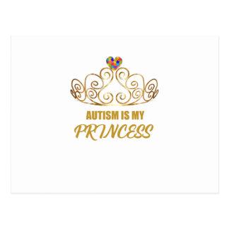 autism awareness 2017 Autism is my princess Postcard