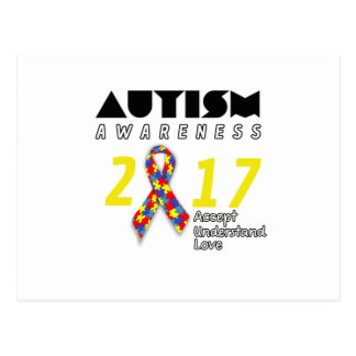 Autism awareness 2017 Autism Postcard
