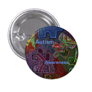 Autism Awareness 3 Cm Round Badge
