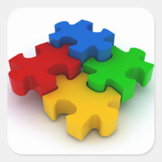 Autism Awareness 3D Puzzle Pieces Stickers | Zazzle.com.au