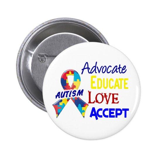 Autism Awareness 6 Cm Round Badge