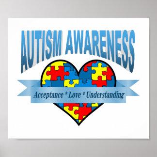 Autism Awareness. Acceptance Love Understanding Poster